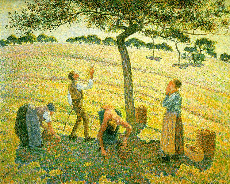 Camille Pissaro Apple Picking at Eragny sur Epte